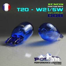 2 AMPOULE XENON T20 W21/5W  BLANC FEUX DIURNE ANTI ERREUR ODB FIAT 500 abarth