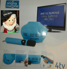 Karaoke The Singing Machine 4tv MP3 CD+G USB  Microphone & Speaker NEW blue