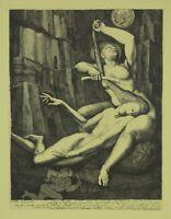 Ernst FUCHS (geb. 1930) Radierung aus dem Zyklus Samson Kunst artvault.online