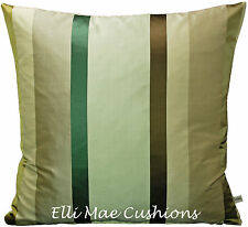 Nina Campbell Balzac Stripe Designer Fabric Green Brown Cushion Pillow Cover