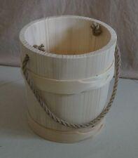 Wooden Bucket HAND MADE beautiful  5L