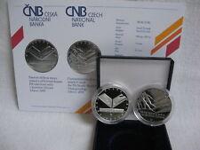 La república checa 2009 200 coronas plata coin pp proof-nórdica Ski-WM en liberec -