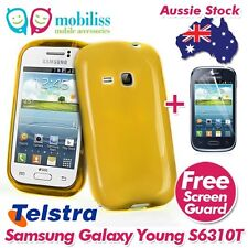 Yellow TPU Gel Case Cover for Telstra Samsung Galaxy Young GT S6310T