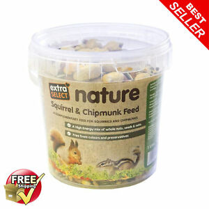Extra Select Squirrel & Chipmunk Feed In Bucket Food Mix 1L