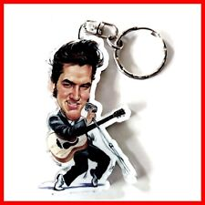 ELVIS PRESLEY PORTE CLE Rock n Roll Caricature Guitare miniature 50 60 Keychain