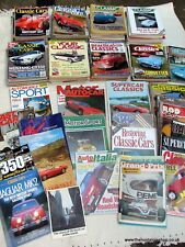 Classic Car Mag Collection 103 Issues, Job lot. 1970's - 1990's.