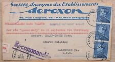 Mayfairstamps Belgium Mechele Registered Cover Front Aeroxon to Us wwo31807