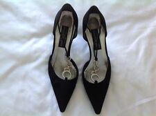 Stuart Weitzman para Russell and Bromley Vintage Negro De Noche Zapatos