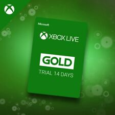 Microsoft Xbox Live Gold 14 Day Trial Code Card