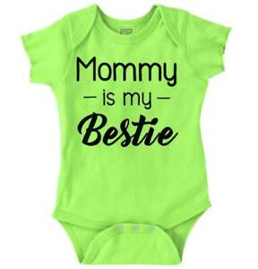 Mommy Is My Bestie Daughter Shower Gift Idea Baby Girls Infant Romper Newborn