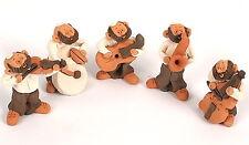 Cute Hasidic Jewish Klezmer Band Hassidic Folk Music Klezmorim Judaica Figurines