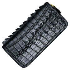Handmade Men Genuine Crocodile/Alligator Leather Clutch Wallet Handbag Purse Bag