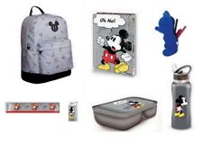 Disney Set Mickey Mouse School Supplies BackPack Bag Bottle Pencil Case