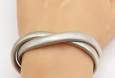 Vintage French Sterling Silver Link Bracelet  Boho Jewelry  Toujours Fid\u00e9le  Souvenir  Faces