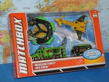 MATCHBOX MISSION FORCE UFO CREW TWIN BLAST SATELLITE TRUCK, STRATO SAUCER 4 PACK