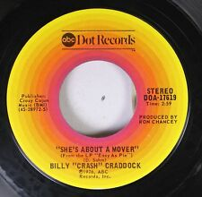 "Country 45 Billy ""Crash"" Craddock - She'S About A Mover / Walk Softly On Abc Dot"