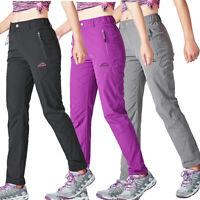 Womens Casual Summer Quick Drying Hiking Pants Outdoor Elastic Camping Walking
