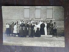 Antique Real Photo Postcard  Iowa School Photo with One Kid Smoking?