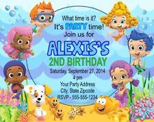 Bubble Guppies Birthday Party Invitations Personalized Custom