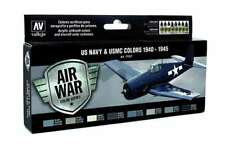 WW2 US Navy Aircraft Colors: 8 Airbrush Paints (Vallejo 71157)