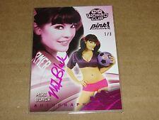 2015 Benchwarmer MIKI BLACK #44 Pink Archive Foil Auto/3 Playboy TRASHY Lingerie