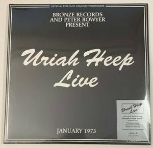 "Uriah Heep - Live 1973 ~ Double 'Splatter' Vinyl Record 12"" Sealed"