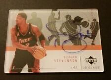 DeShawn Stevenson Jazz Washington Union 2003 Upper Deck Auto Signed Cert JN15