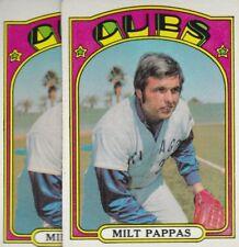 1972 TOPPS BASEBALL LOT (2) MILT PAPPAS #208 CUBS VG *L3134