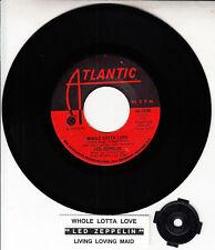 "LED ZEPPELIN  Whole Lotta Love & Living Loving Maid 7"" 45 rpm vinyl record RARE!"