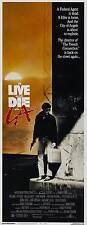 TO LIVE AND DIE IN LA Movie POSTER 14x36 Insert William L. Petersen Willem Dafoe