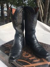 Lucchese Men's Black Leather Boot Size 9D