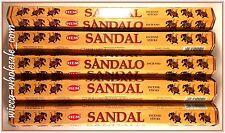 LOT OF 100 Sticks HEM SANDAL Incense 5 TUBE OF 20 Sticks = 100 Sticks SANDALWOOD