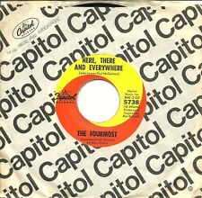 """The Fourmost-Here, There And Everywhere/You've Changed-45 RPM-7""""-single-pop-viny"""