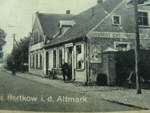 BERTKOW i.d. Altmark ..Gasthof zum Deutschen Kaiser ...Mauxion Reklameschild...