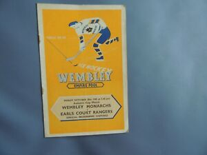 Ice Hockey Empire Pool. Wembley Monarchs. v Earls Court Rangers. 28 Oct 1949