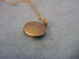 Vintage Gold Filled Baby Locket Necklace