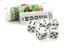 Moose Dice Game 5 Dice Set with Travel Tube and Instructions