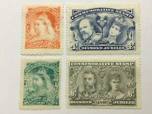 old stamps  GB DIAMOND JUBILEE     x  4 Cinderellas