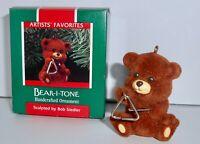 Hallmark Keepsake Christmas Ornament 1989 BEAR-I-TONE Artist's Favorites H11