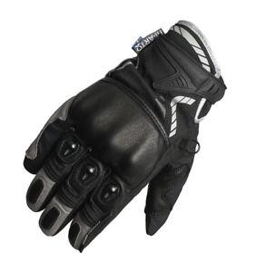 Lindstrands Knock CE Approved Short Summer Motorcycle Motorbike Gloves - Black