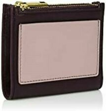 FOSSIL Shelby LEATHER Multi Folding Clutch Purse Pink Burgundy NEW Gift Women