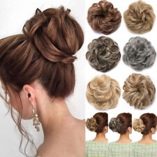 Curly Messy Bun Hair Piece Scrunchie Updo Cover Hair Extensions Real as human FO