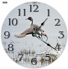 "10.5"" NORTHERN PINTAIL BIRD CLOCK Large 10.5"" Wall Clock Home Décor Clock - 3026"