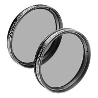 "Neewer 2pcs 1.25"" Variable Circular Polarizer CPL Lens Filter for Telescope"