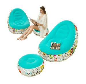 Lazy Sofa, Inflatable Sofa, Family Inflatable Lounge Chair, Graffiti Pattern Flo