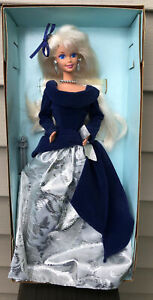 Avon Special Edition Winter Velvet Barbie 1st in Series 1995 Holiday 15571