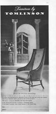 1960 Tomlinson PRINT AD furniture chair from the Pavane assemblage Highpoint, NC