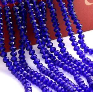 New stock Faceted Rondelle Bicone Crafts Crystal Beads 8mm 35PC