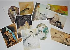 10 Assorted Art Deco Postcards from Louis Icart Japanese Exhibition 1978 - Set A
