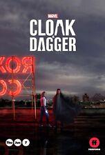 "PROMO MARVEL FREEFORM CLOAK AND DAGGER 11""x17"" TV SERIES POSTER C2E2"